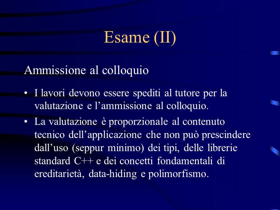 Esame (II) Ammissione al colloquio