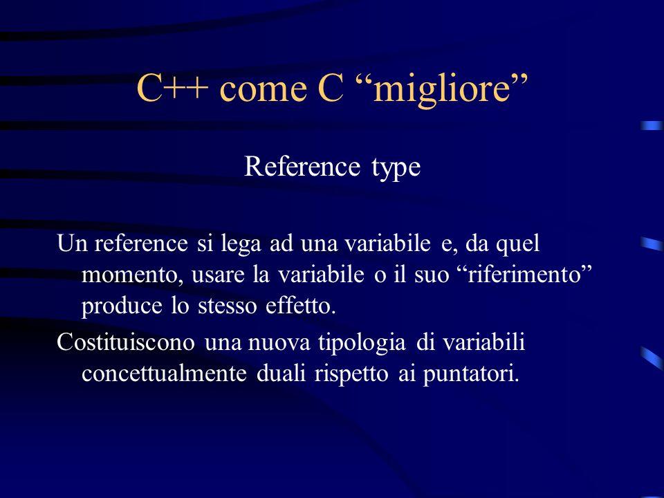 C++ come C migliore Reference type