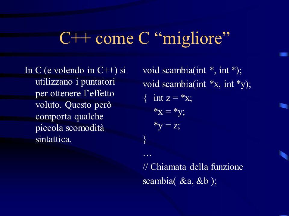 C++ come C migliore