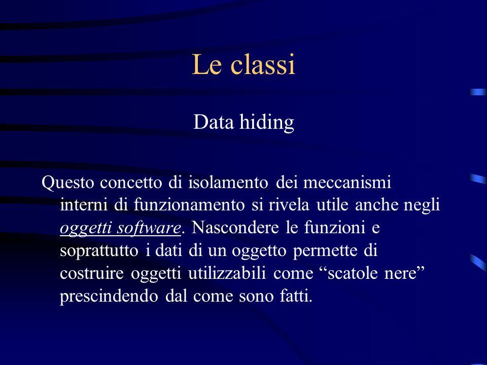 Le classi Data hiding.