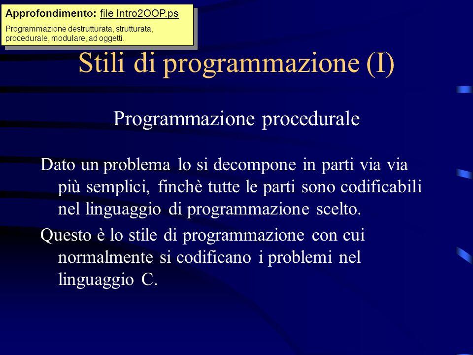 Stili di programmazione (I)