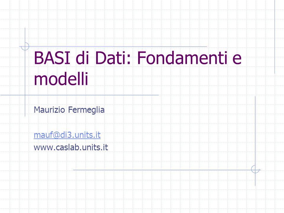 BASI di Dati: Fondamenti e modelli