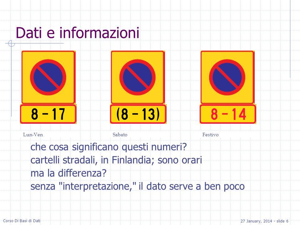 Dati e informazioni che cosa significano questi numeri