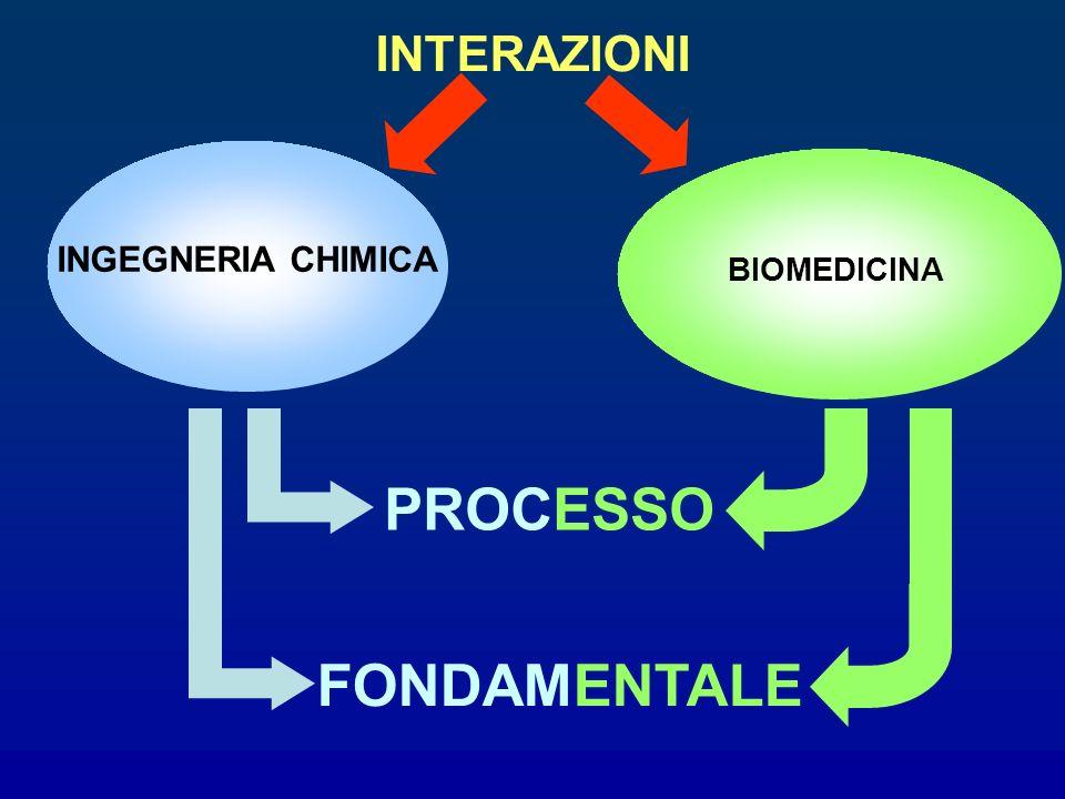 INTERAZIONI INGEGNERIA CHIMICA BIOMEDICINA FONDAMENTALE PROCESSO