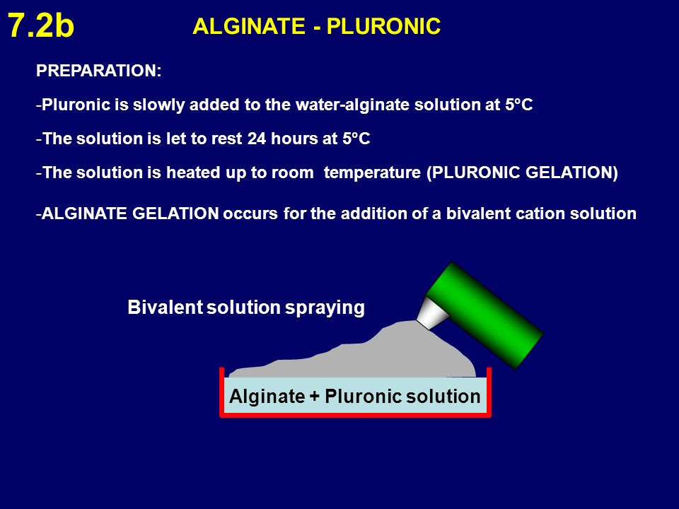 Alginate + Pluronic solution