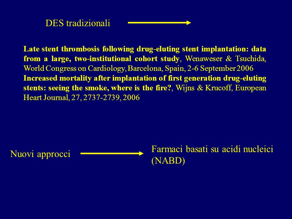 Farmaci basati su acidi nucleici (NABD) Nuovi approcci
