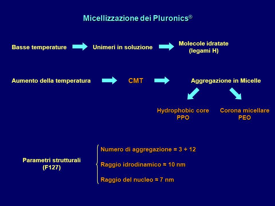Micellizzazione dei Pluronics®