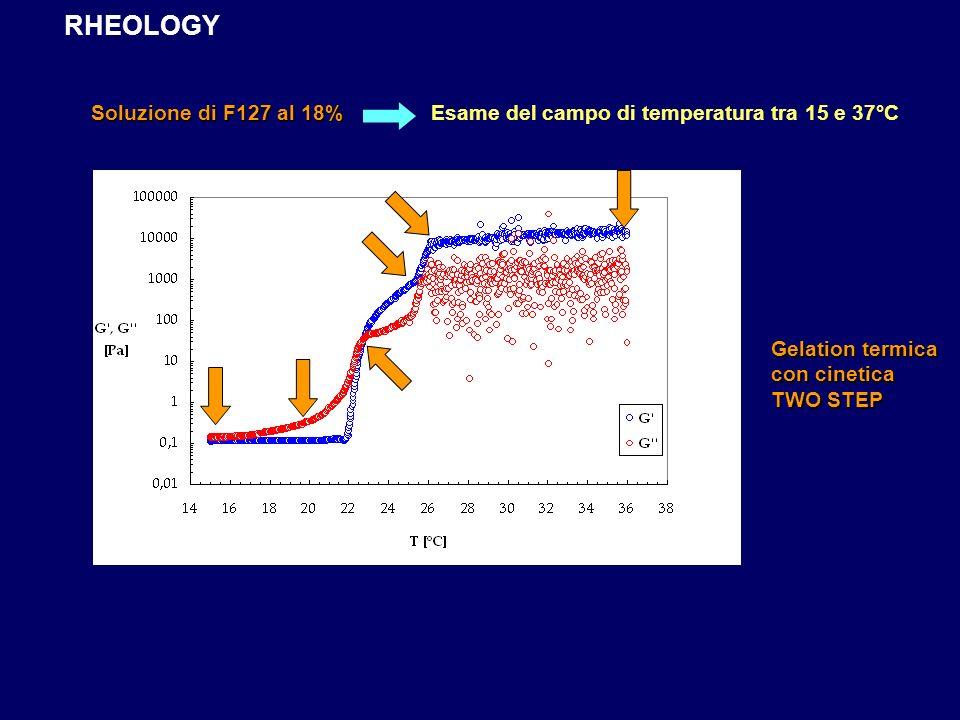 Esame del campo di temperatura tra 15 e 37°C