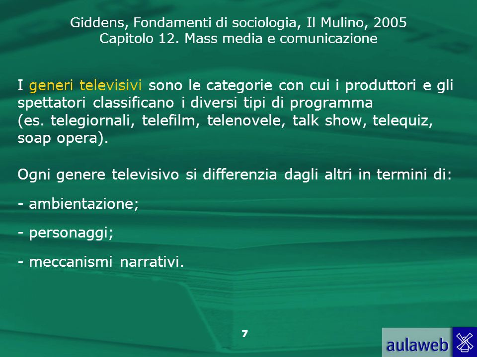 I generi televisivi sono le categorie con cui i produttori e gli spettatori classificano i diversi tipi di programma (es. telegiornali, telefilm, telenovele, talk show, telequiz, soap opera).