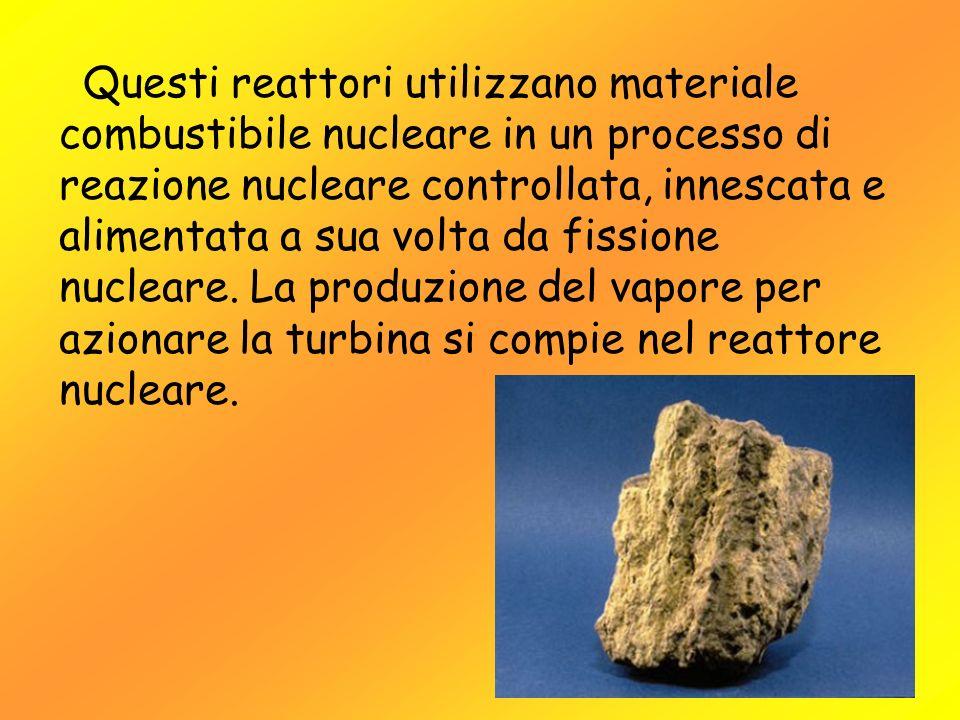 Questi reattori utilizzano materiale combustibile nucleare in un processo di reazione nucleare controllata, innescata e alimentata a sua volta da fissione nucleare.