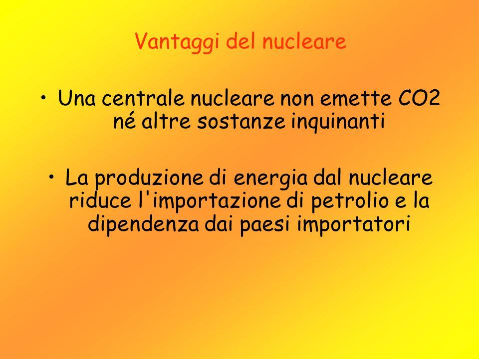 Una centrale nucleare non emette CO2 né altre sostanze inquinanti