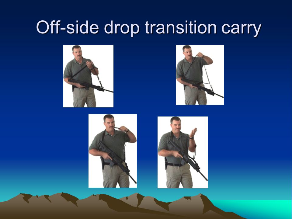 Off-side drop transition carry