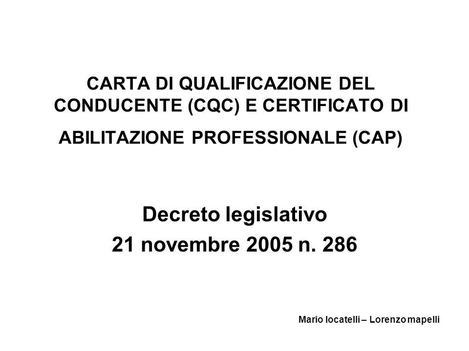 Decreto legislativo 21 novembre 2005 n. 286