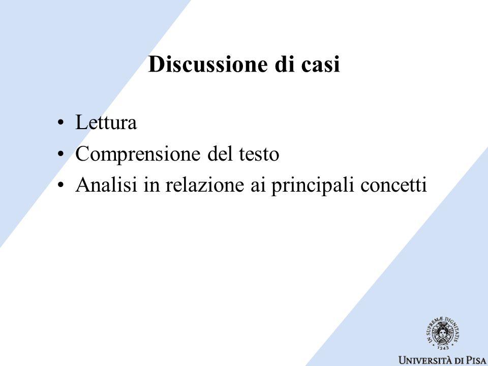 Discussione di casi Lettura Comprensione del testo