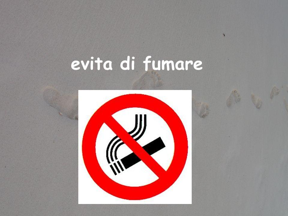 evita di fumare