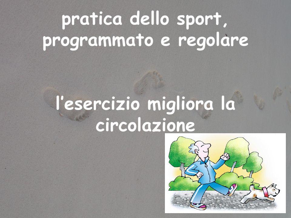 pratica dello sport, programmato e regolare