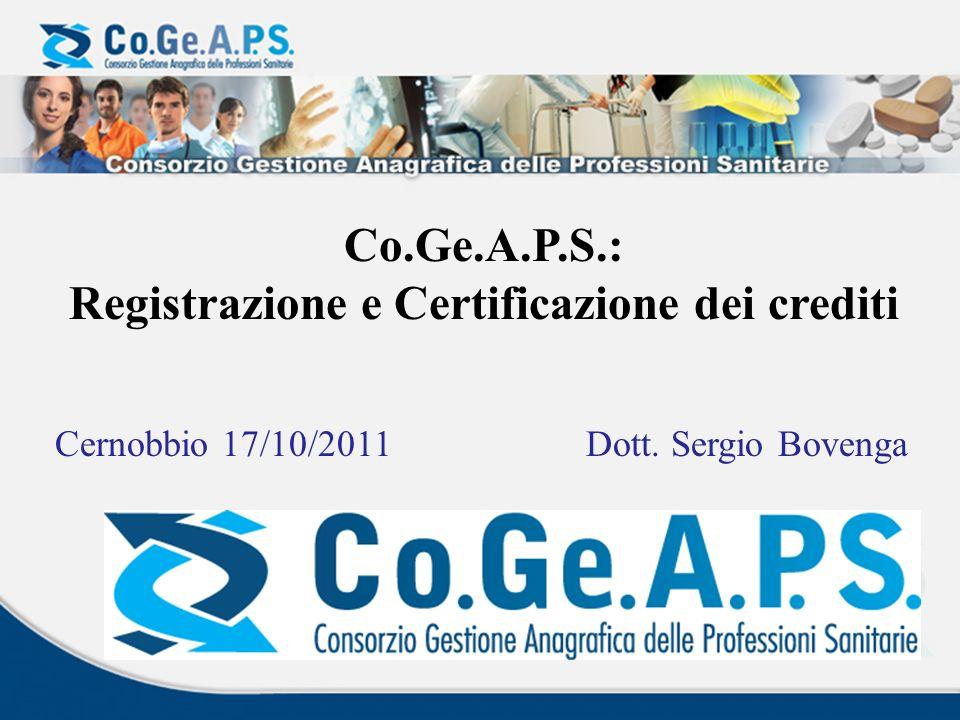 Registrazione e Certificazione dei crediti