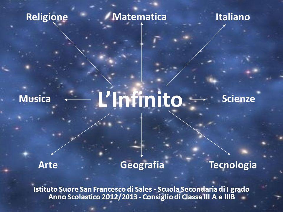 L'Infinito Religione Matematica Italiano Musica Scienze Arte Geografia