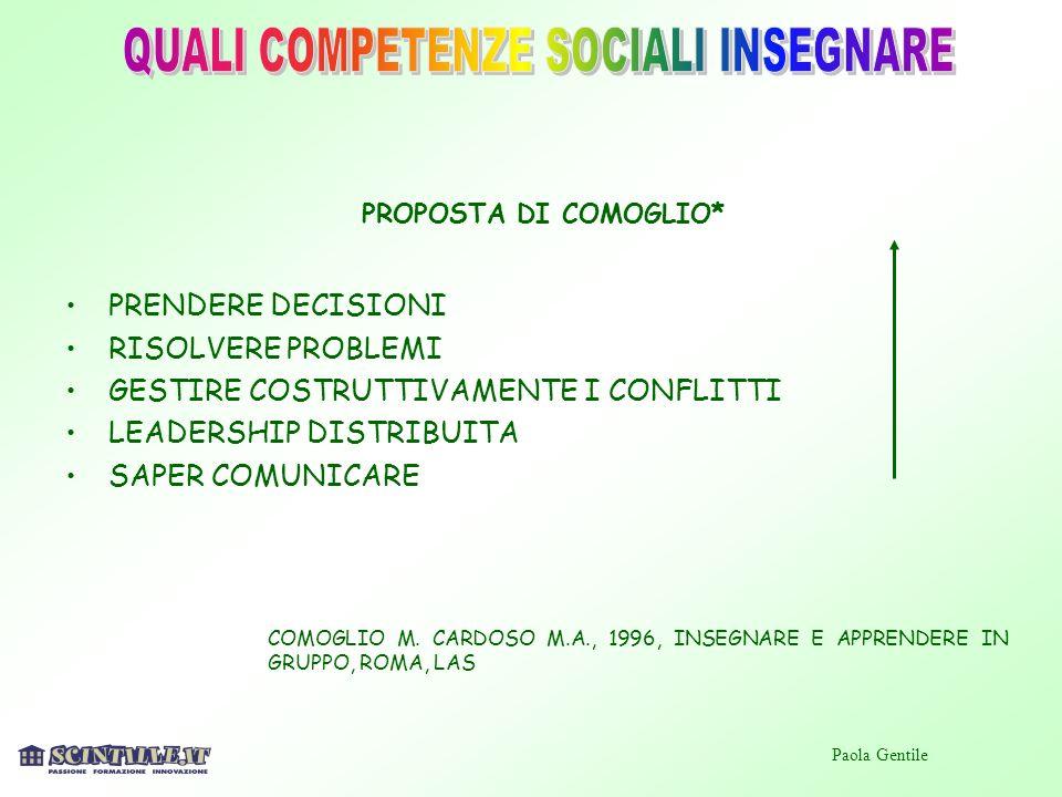 QUALI COMPETENZE SOCIALI INSEGNARE