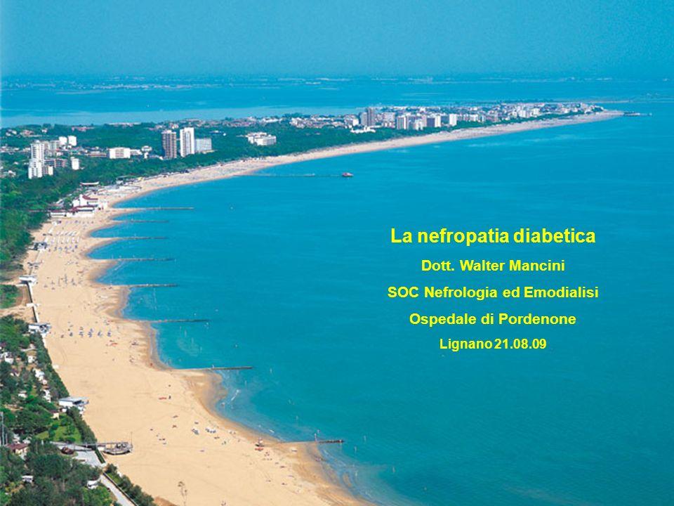 La nefropatia diabetica SOC Nefrologia ed Emodialisi