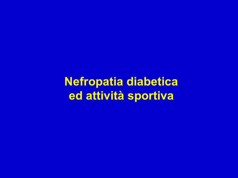 Nefropatia diabetica ed attività sportiva