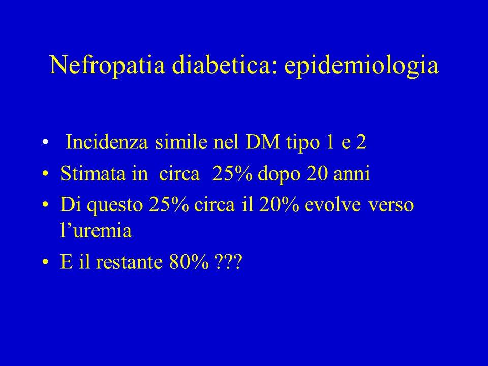 Nefropatia diabetica: epidemiologia