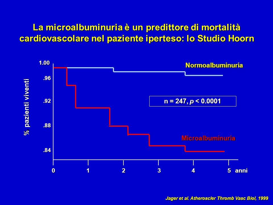 La microalbuminuria è un predittore di mortalità cardiovascolare nel paziente iperteso: lo Studio Hoorn