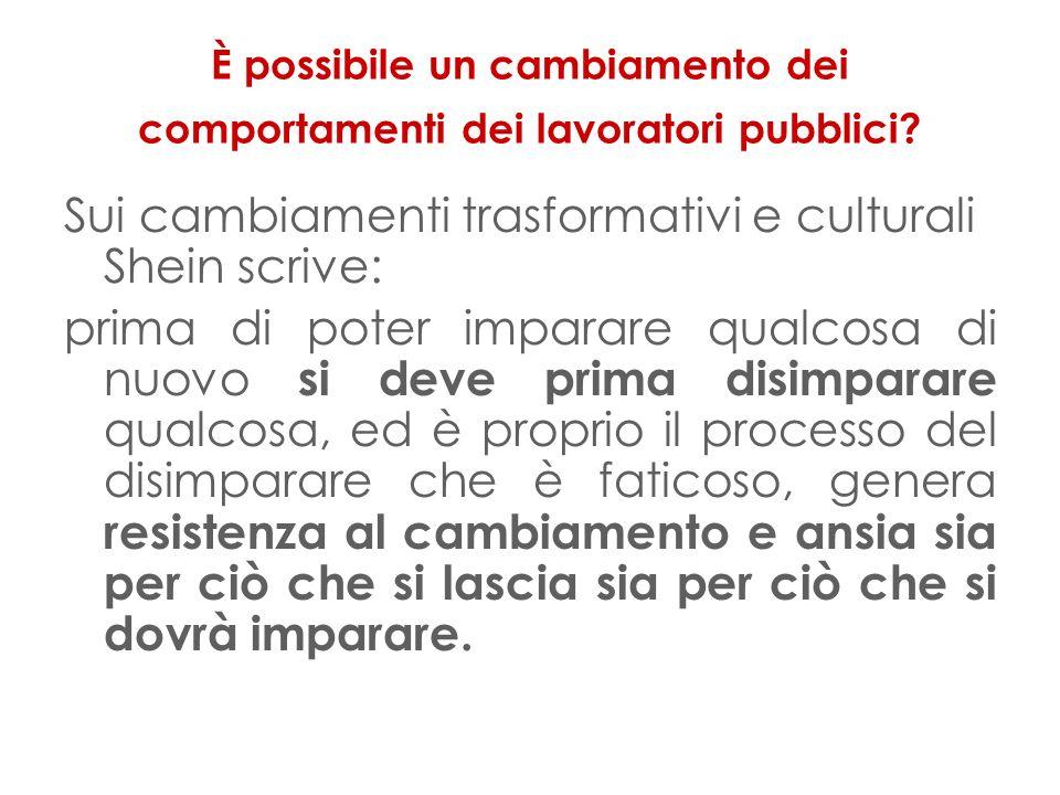 È possibile un cambiamento dei comportamenti dei lavoratori pubblici