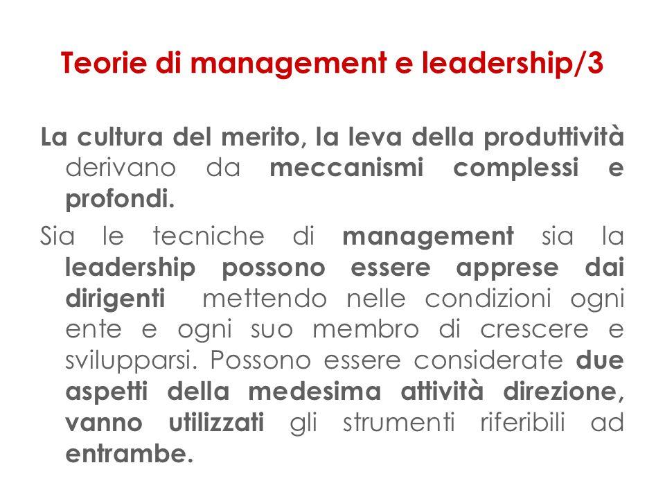 Teorie di management e leadership/3