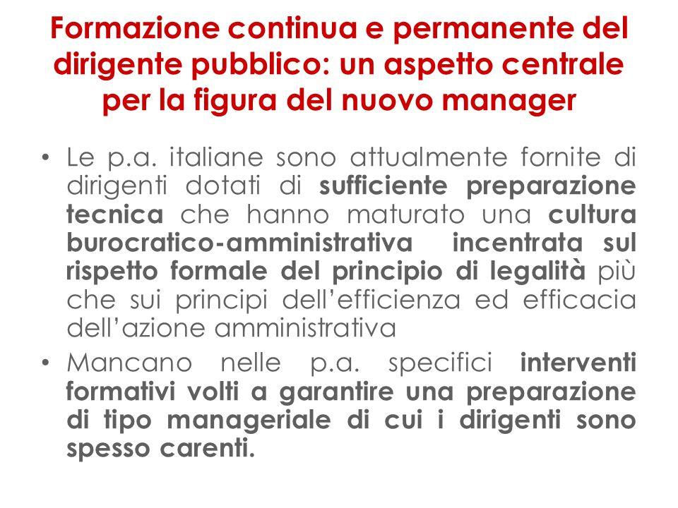Formazione continua e permanente del dirigente pubblico: un aspetto centrale per la figura del nuovo manager