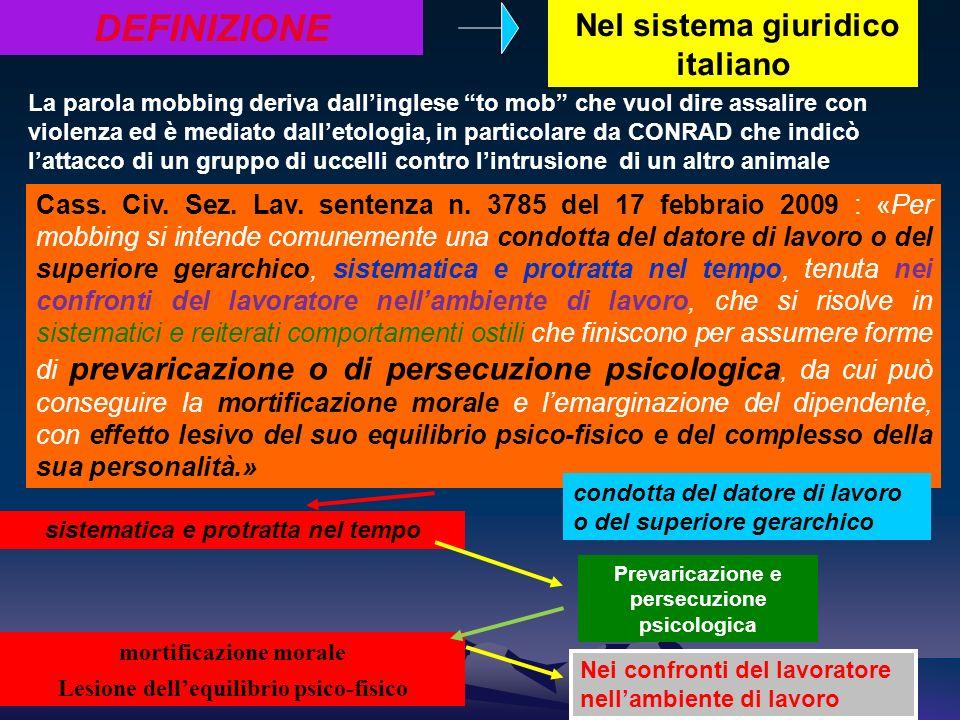 DEFINIZIONE Nel sistema giuridico italiano