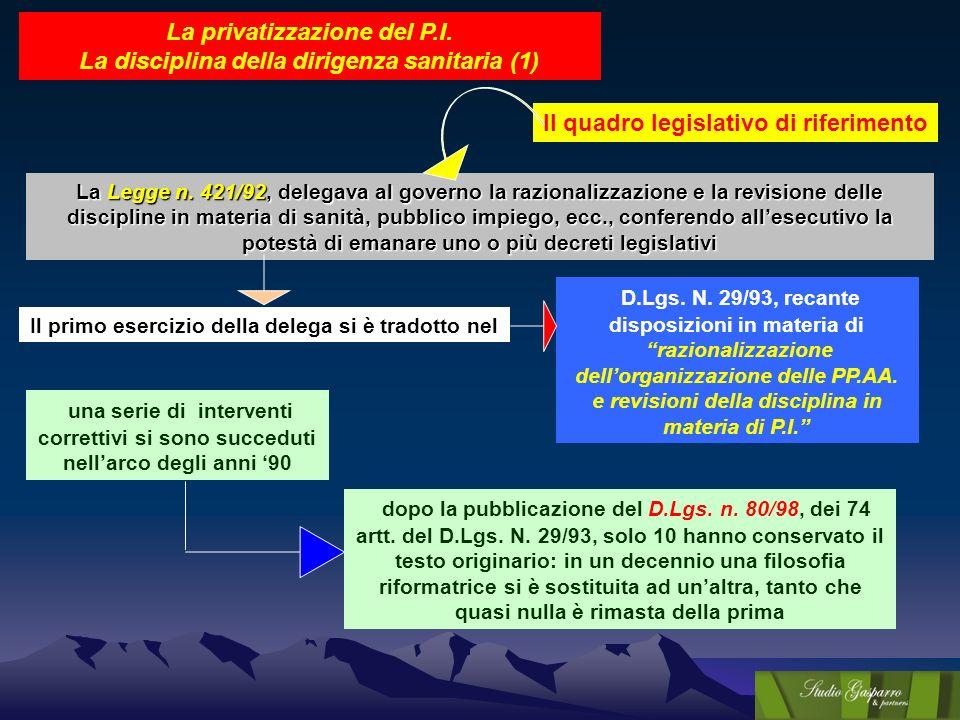Il quadro legislativo di riferimento