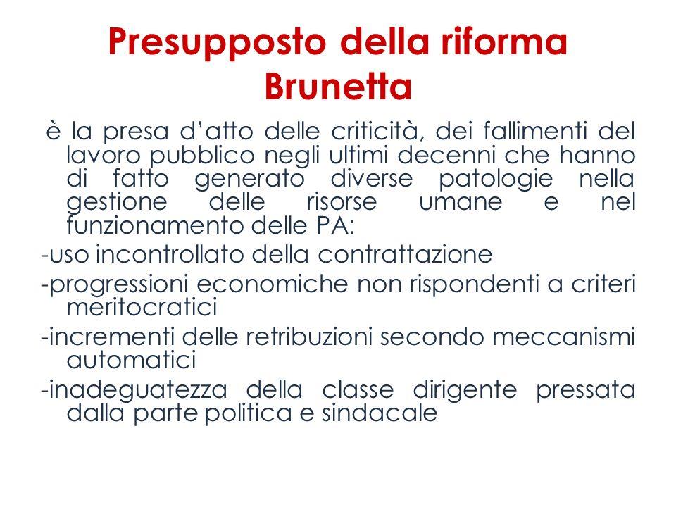 Presupposto della riforma Brunetta
