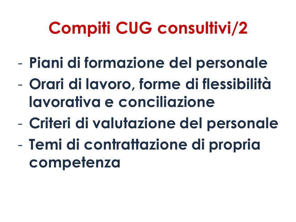 Compiti CUG consultivi/2