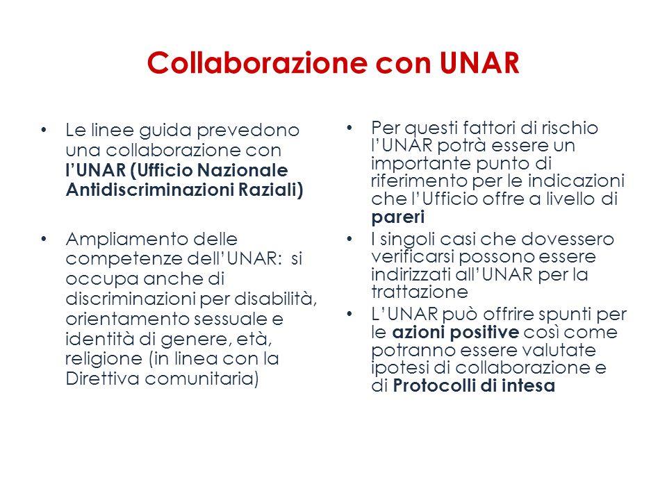 Collaborazione con UNAR