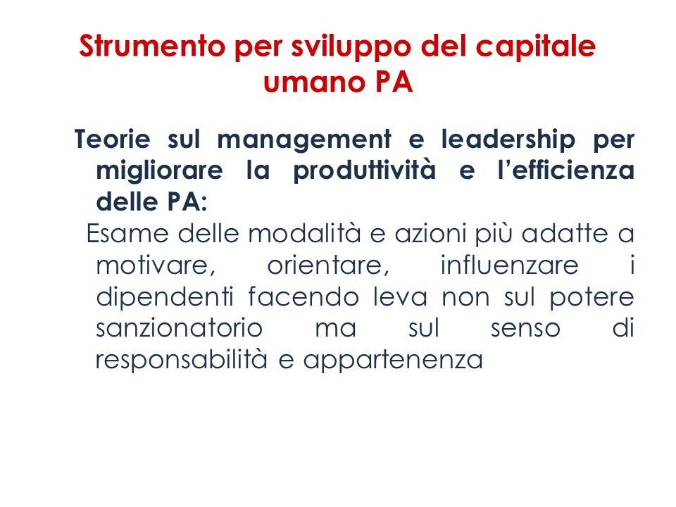 Strumento per sviluppo del capitale umano PA