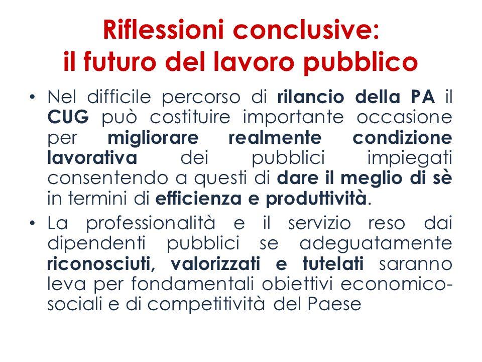 Riflessioni conclusive: il futuro del lavoro pubblico