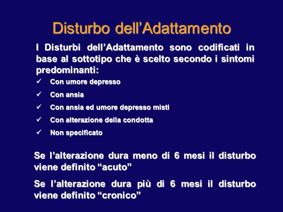 Disturbo dell'Adattamento 1
