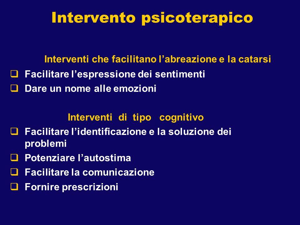 Intervento psicoterapico
