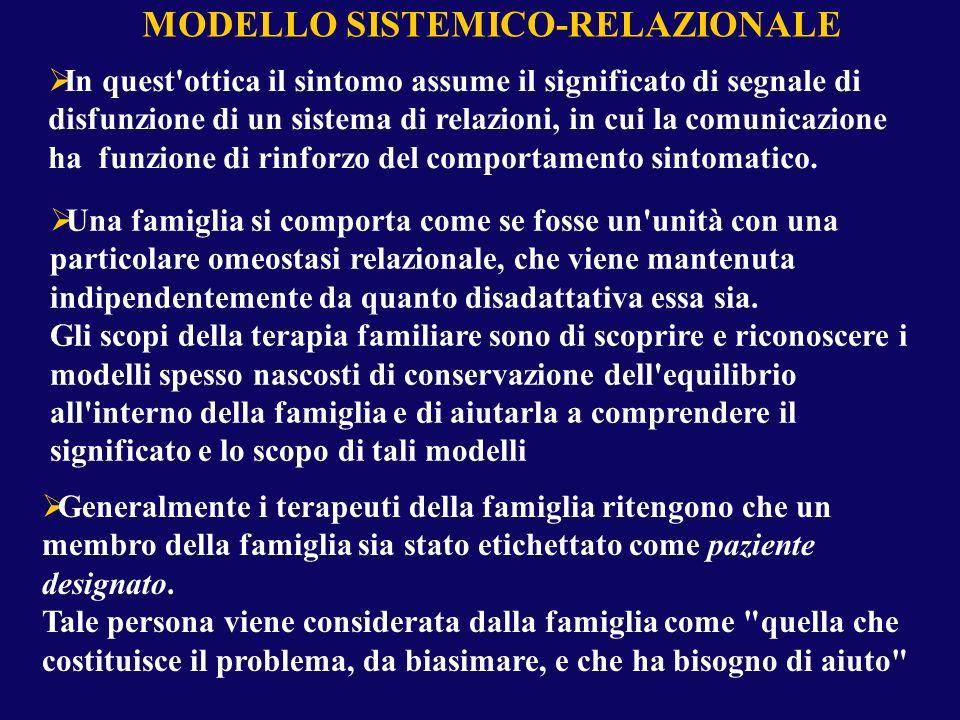 MODELLO SISTEMICO-RELAZIONALE