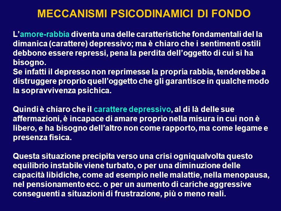 TEORIE PSICOANALITICHE DELLA DEPRESSIONE