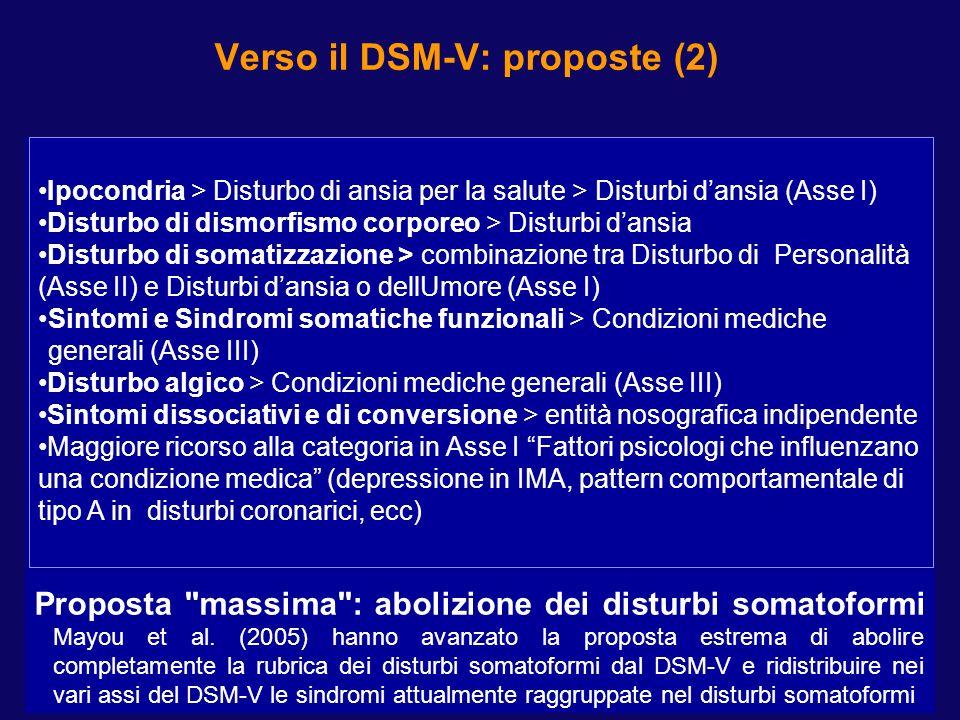 UTILITÀ CLINICA DEI DCPR (PORCELLI P - TODARELLO O, 2008)