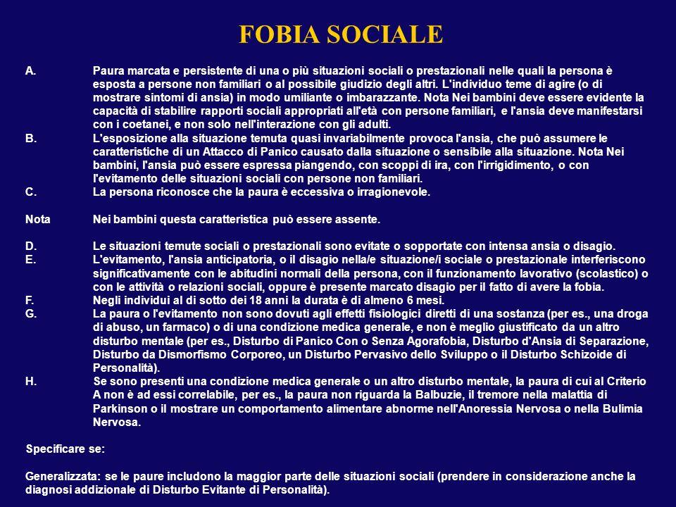 FOBIA SPECIFICA