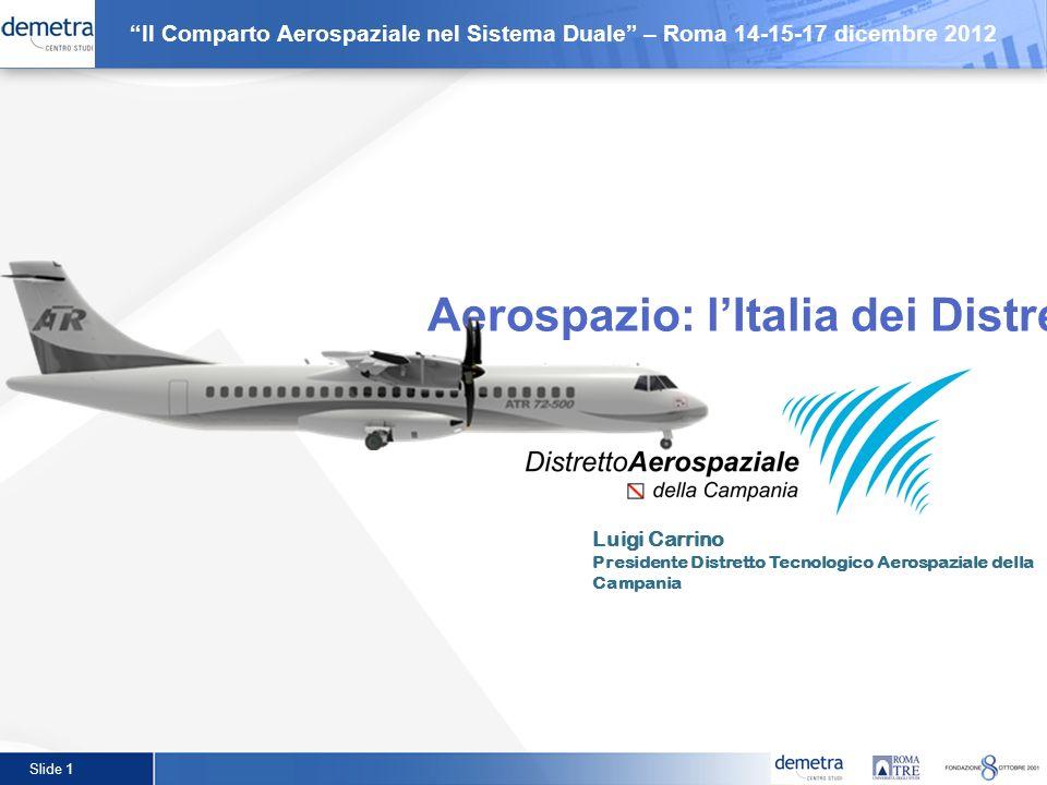 Aerospazio: l'Italia dei Distretti