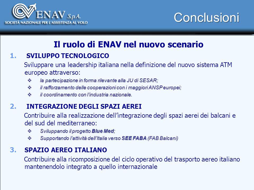 Il ruolo di ENAV nel nuovo scenario