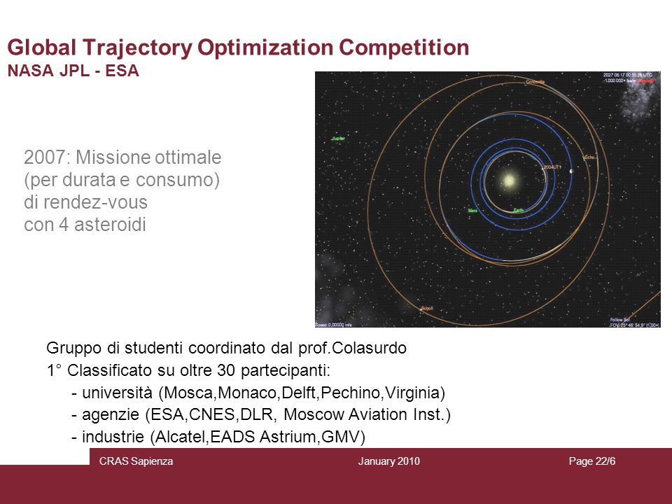 Global Trajectory Optimization Competition NASA JPL - ESA