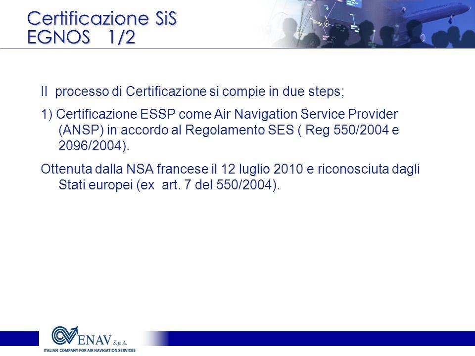 Certificazione SiS EGNOS 1/2