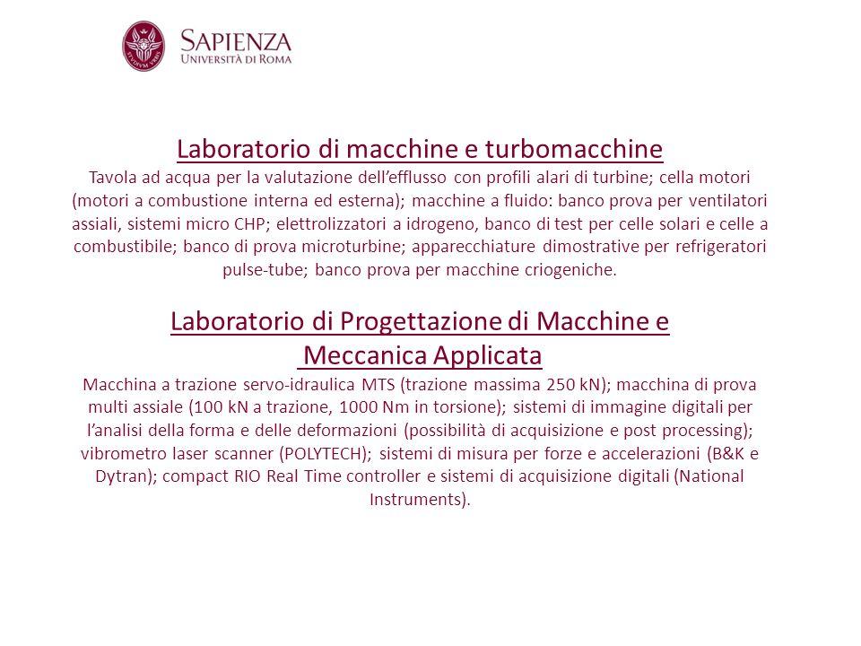 Laboratorio di macchine e turbomacchine