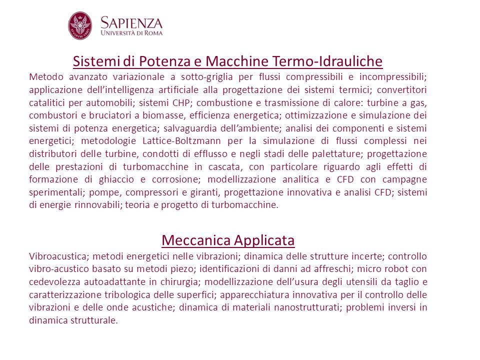 Sistemi di Potenza e Macchine Termo-Idrauliche