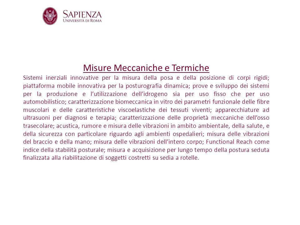 Misure Meccaniche e Termiche